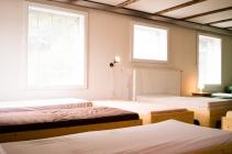 Der Schlafsaal ist mit Extrabetten und Isomatten ausweitbar